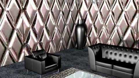 Black is chic! total black livingroom - Glamour - Living room  - by giulygi