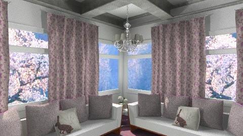 purple and white - Minimal - Living room  - by putri nasher