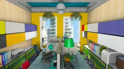 Bright Office - Modern - Office  - by PomBom