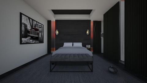 black bedroom - Eclectic - Bedroom  - by vallequeen