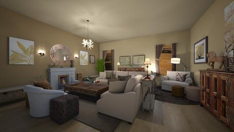 Country Living - Living room  - by RettaLynn