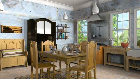 rustic kitchen - Country - Kitchen  - by auntiehelen