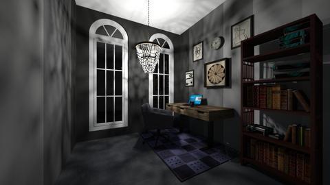 Rainy office - Rustic - Office  - by WibbleWobble