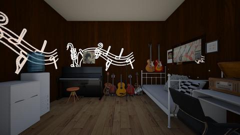 dream music room - Retro - by maverick and goose