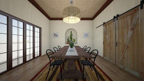 Desert Dining Room - Rustic - Dining room  - by YoungGunDesigner