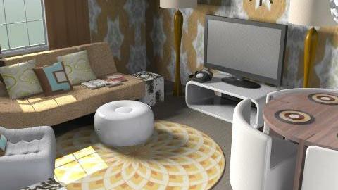 Studio Flat in Retro - Retro - Living room  - by Dea Richardson