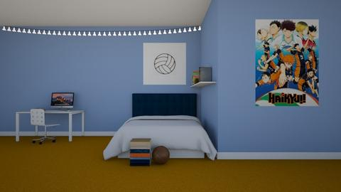 Volleyball Fan - Bedroom  - by kaede11