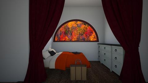 Fall attic bedroom - by Chardesigner