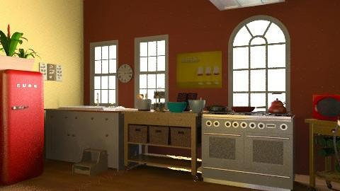 Cute kitchen Cottage - Country - Kitchen  - by brn2design
