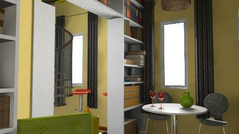 Retro studio - Retro - Living room  - by lanagirl