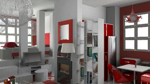 studio rouge-baiser - Modern - Bedroom - by calu13