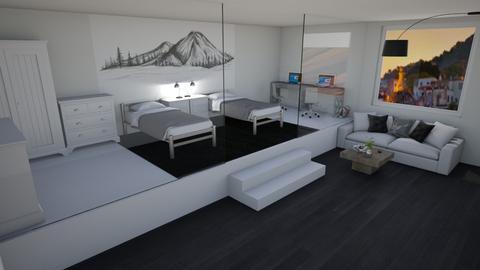 Twin Bedroom - Modern - Bedroom  - by Khayla Simpson