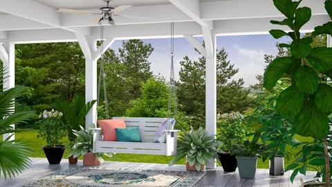 On the Back Porch - Garden  - by GraceKathryn