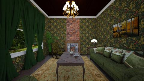 The Green Victorian - Living room  - by SammyJPili