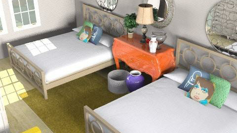 Guest Room (inspired by Liza) - Retro - Bedroom - by MCalderon