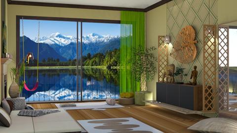 Home Yoga - Living room  - by nat mi