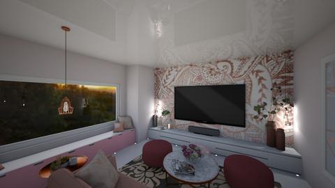 Rose Gold Livingroom - Feminine - Living room - by FabulousGirl35