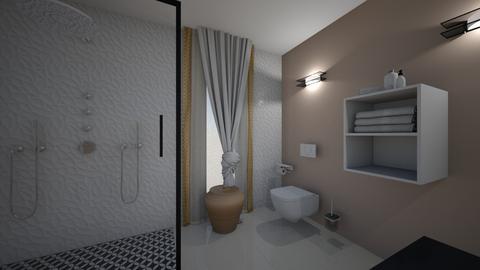 CLAU baie proiect 4 - Bathroom  - by Claudia Ilisan