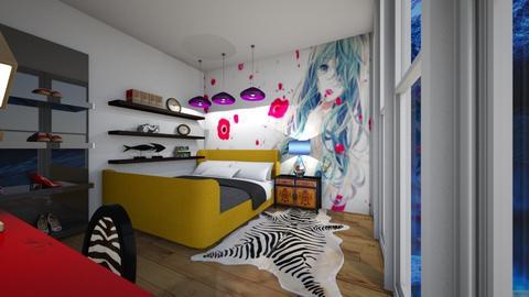 Cool Manga Bedroom - Bedroom  - by Woweee