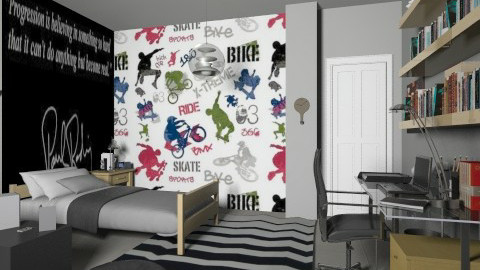Teenage boy bedroom - Kids room  - by annasig