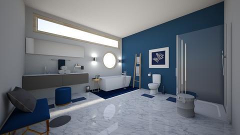 grey n navy - Bathroom  - by porlucaskm