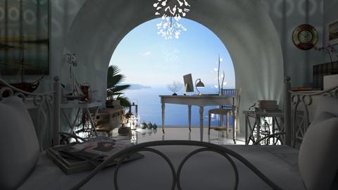 Santorini Dream Workplace - Office  - by LuzMa HL