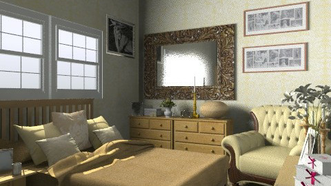 Gold - Classic - Bedroom  - by Anna Rainbow