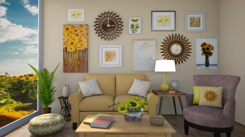 Sunflower Living Room - Living room  - by chocolatedonut71