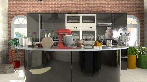 TV show kitchen - Modern - Kitchen  - by silvye