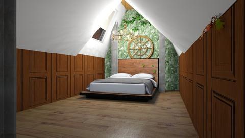 attic bedroom - Rustic - Bedroom  - by I am Unicorn