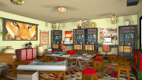 Humanities Classroom - Global - Kids room  - by Theadora