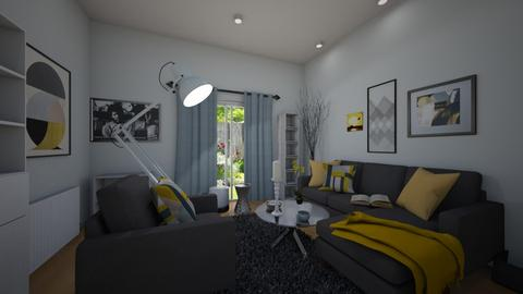 grey yellow - Living room - by GraceRoomstyler