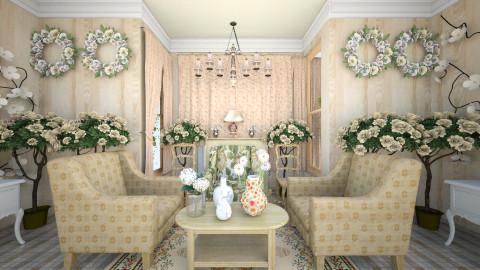 Floral Vintage - Vintage - Living room  - by Palita Eamin