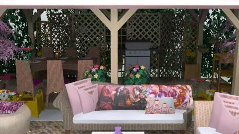 Hermoso patio - Eclectic - Garden  - by ATELOIV87