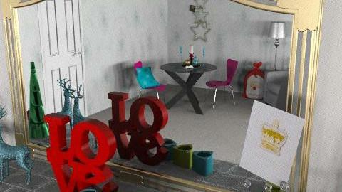 Glam Christmas - Retro - Living room  - by richardsbm