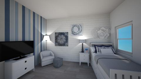 Navy kids bedroom - Bedroom - by haydenak472