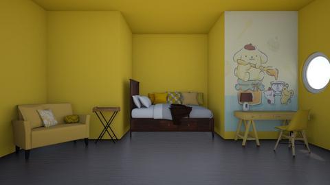 Pompompurin - Bedroom  - by Pompompudding