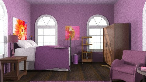 Purple - Glamour - Bedroom - by 89dudes