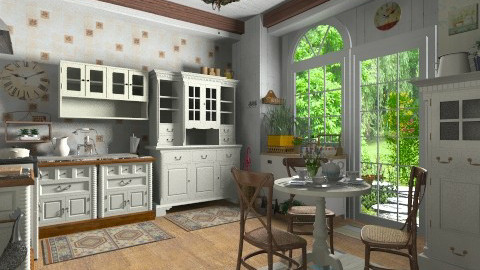 Country Breakfast - Kitchen - by user_2734851