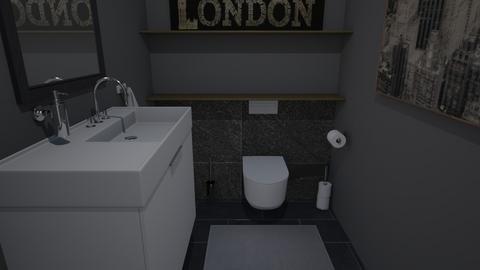 Arty toilet - Bathroom  - by Kathy and Noa