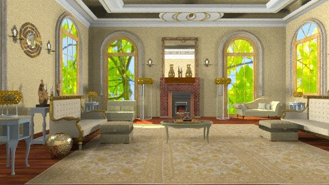 Great Golden Room - Vintage - Living room  - by wiljun