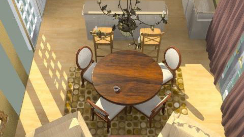 eat in kitchen - Eclectic - Kitchen  - by shaunaj