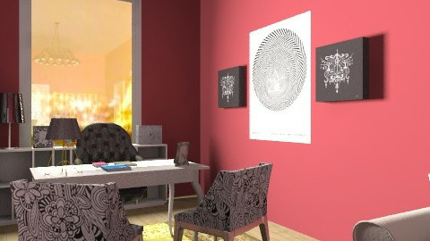 The red project - Eclectic - Office  - by PFrate