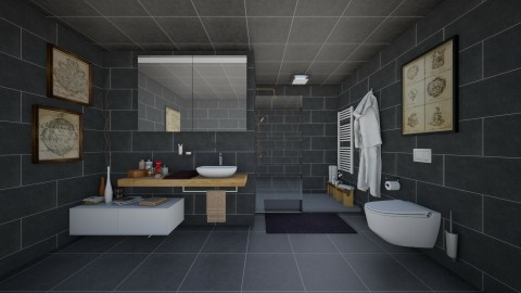 Black Bath - Modern - Bathroom  - by Joao M Palla