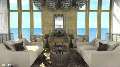 Elegance in Wood n Glass  - Classic - Living room  - by ovchicha