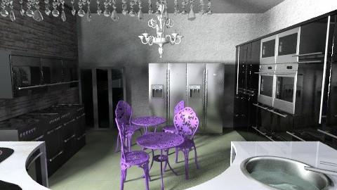 sandis kitchen - Glamour - Kitchen  - by cekicandreana