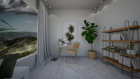 scandi moody study space - Office  - by Teagan123