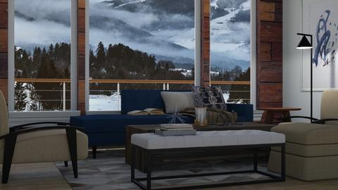Alaskan Boathouse - Rustic - Living room  - by millerfam