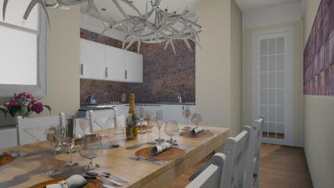 Purple beige - Modern - Kitchen  - by wagner herbst padilha