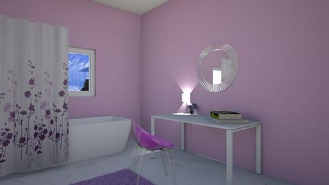 My Lavender Bathroom - Bathroom  - by Ellie DeSmith